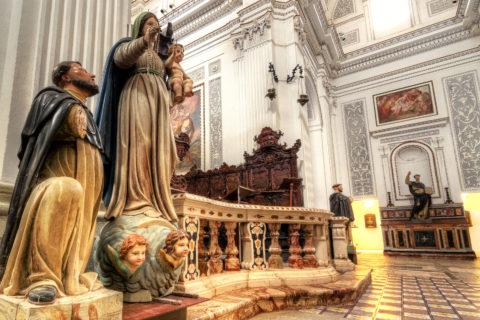 Interno Chiesa Erice nicola albano fotografie nka.it